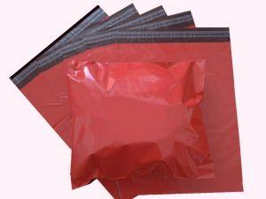 Červené plastové obálky 16x23cm(6x9)LDPE barevné plastové obálky