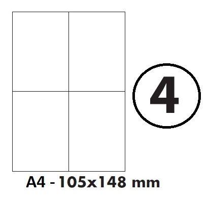 Etikety samolepící A4 105 x 148mm - 4ks arch