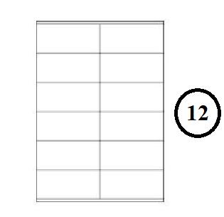 Etikety samolepící A4 105 x 48mm - 12ks arch
