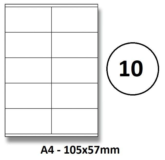 Etikety samolepící A4 105 x 57mm - 10ks arch