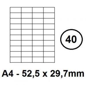 Etikety samolepící A4 - 52,5 x 29,7mm - 40ks
