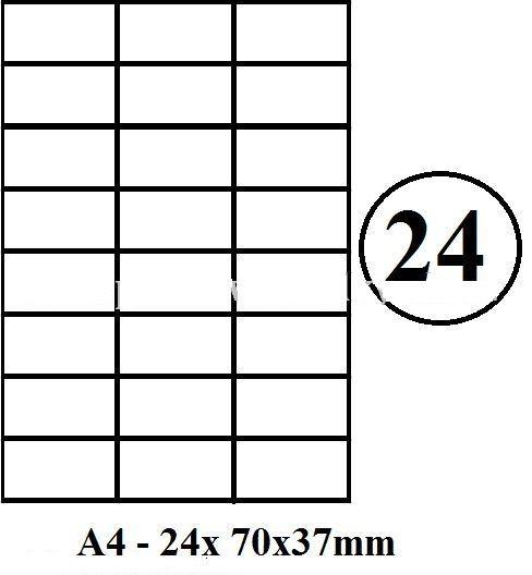 Etikety samolepící A4 70 x 36mm - 24ks arch
