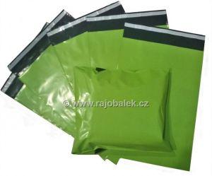 Zelené plastové obálky 30x40cm LDPE