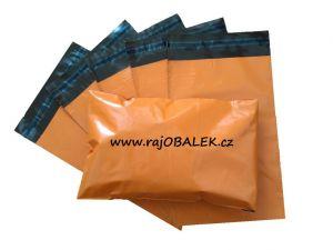 Oranžové plastové obálky 16x24cm(6x9)