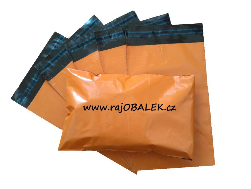 Oranžové plastové obálky 16x24cm(6x9) LDPE barevné plastové obálky