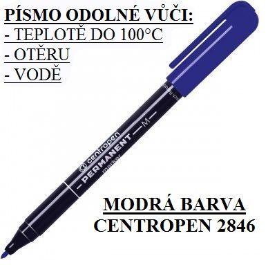 Popisovač Centropen 2846 M - modrý fixa značkovač