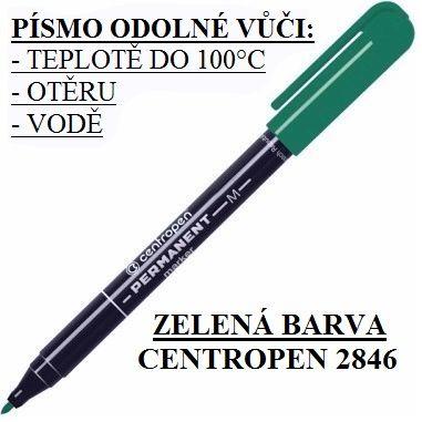 Popisovač Centropen 2846 M - zelený značkovač