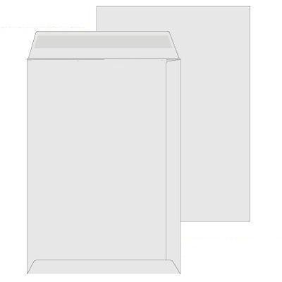 Poštovní obálky C4 bílé s krycí páskou - 10ks