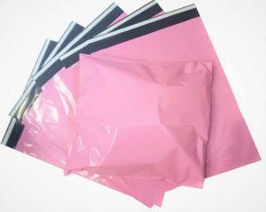 Růžové plastové obálky SVĚTLÉ 17x25cm