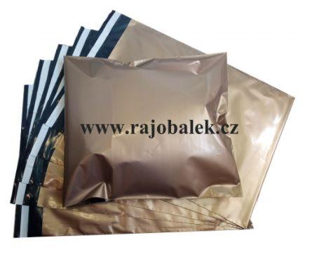 Zlaté plastové obálky 25x35cm LDPE