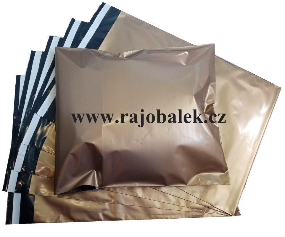 Zlaté plastové obálky 35x50cm(14x20)LDPE barevné plastové obálky