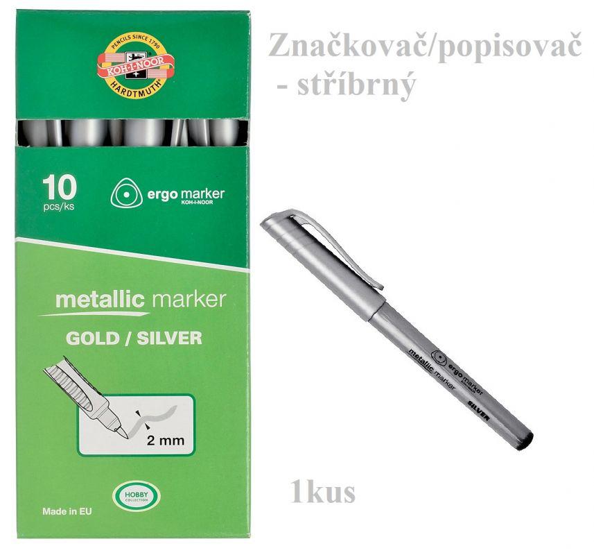 Značkovač/popisovač metalický stříbrný Koh-i-noor 3402